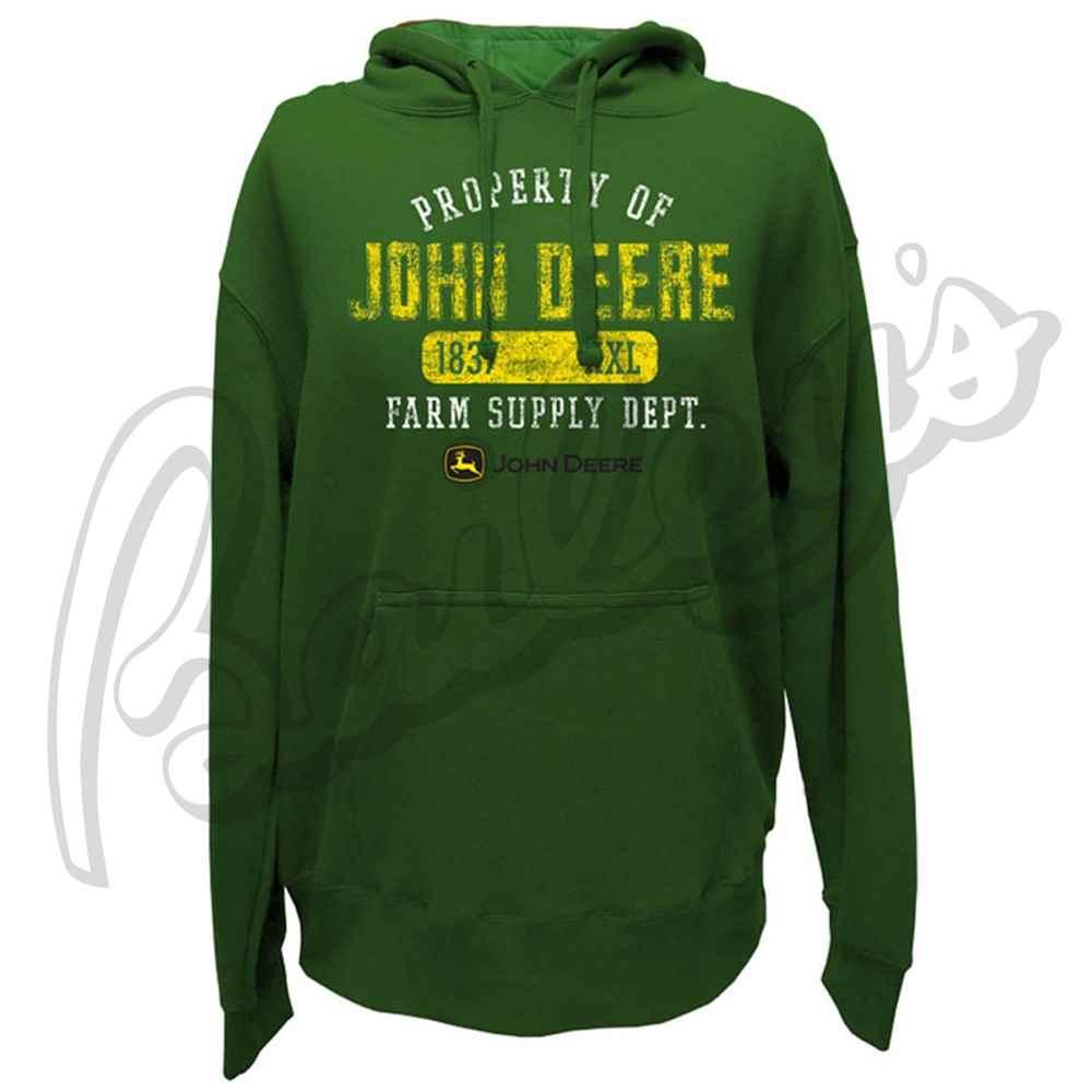 Of John Deere Men's Hooded Pullover Fleece Sweatshirt   John Deere ...