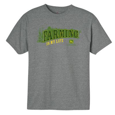 Gray Farming is My LIfe John Deere T-shirts | WeGotGreen.com