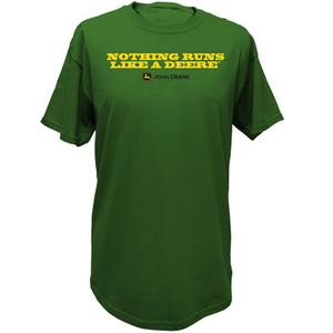Mens Nothing Runs Like A Deere, Tee in Green