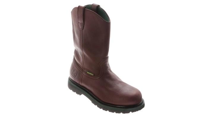 John Deere Mens 10 Inch Waterproof Wellington Work Boots