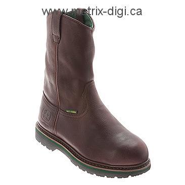 Boots - Men's John Deere 11-Inch Safety Toe Wellington w/ Internal Met ...