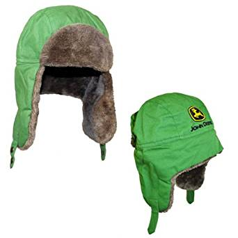 Amazon.com: John Deere Logo Green Trapper Style Hat (L/XL): Clothing