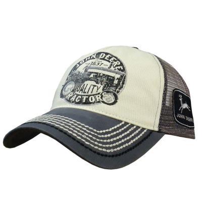 John Deere Men's One-Size Charcoal Mesh-Back Vintage Tractor Hat ...