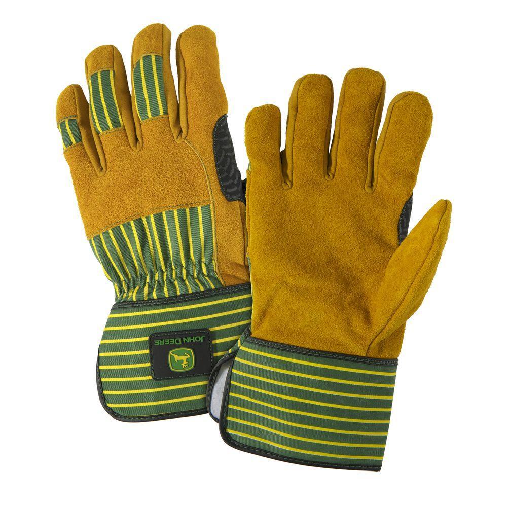 John Deere Split Cowhide X-Large Leather Palm Gloves-JD00005/XL - The ...