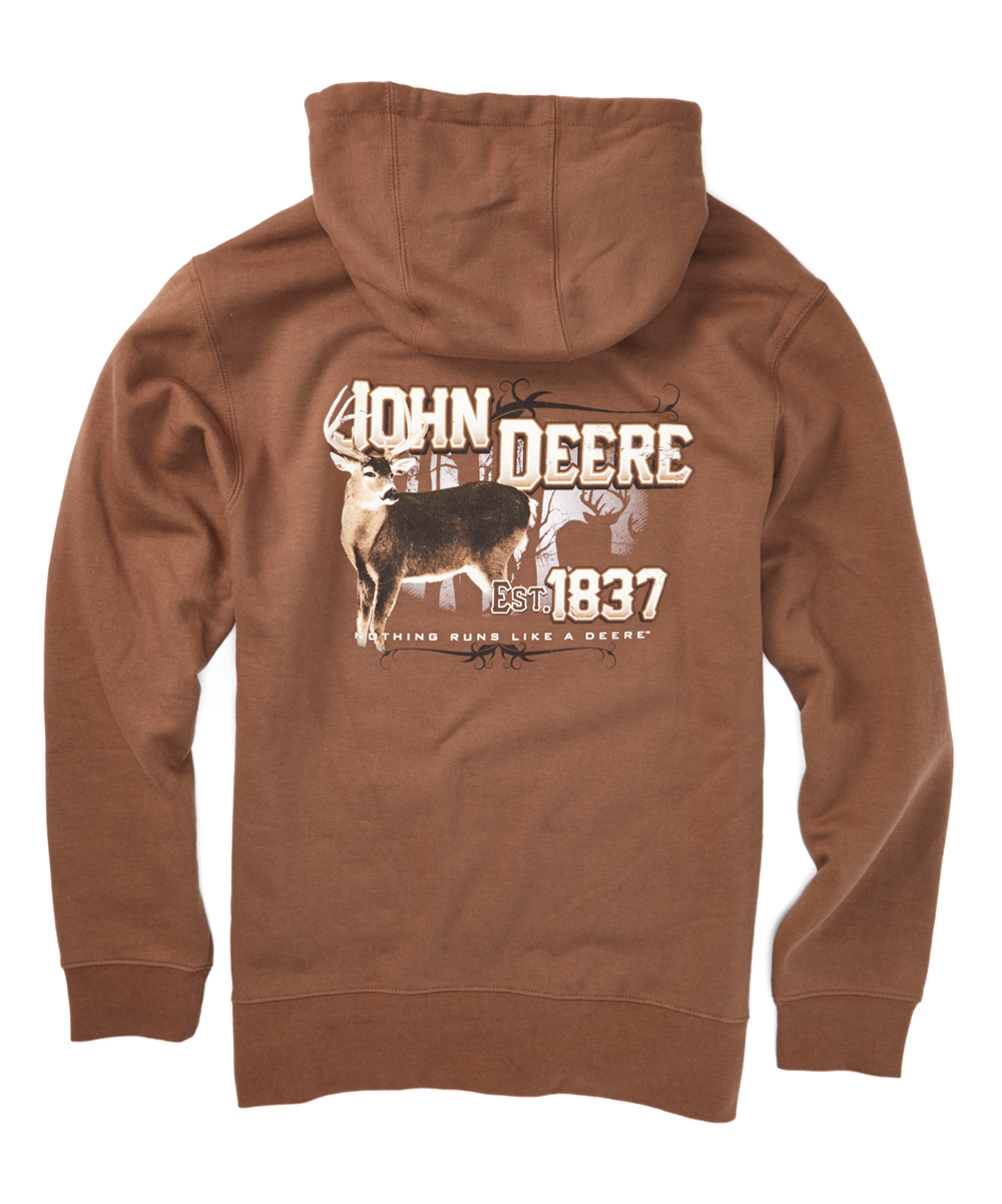 Brown John Deere Shadow Deer Hoodie | zulily