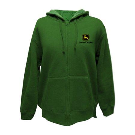 John Deere Western Sweatshirt Mens LC Logo Zip Hoodie ...