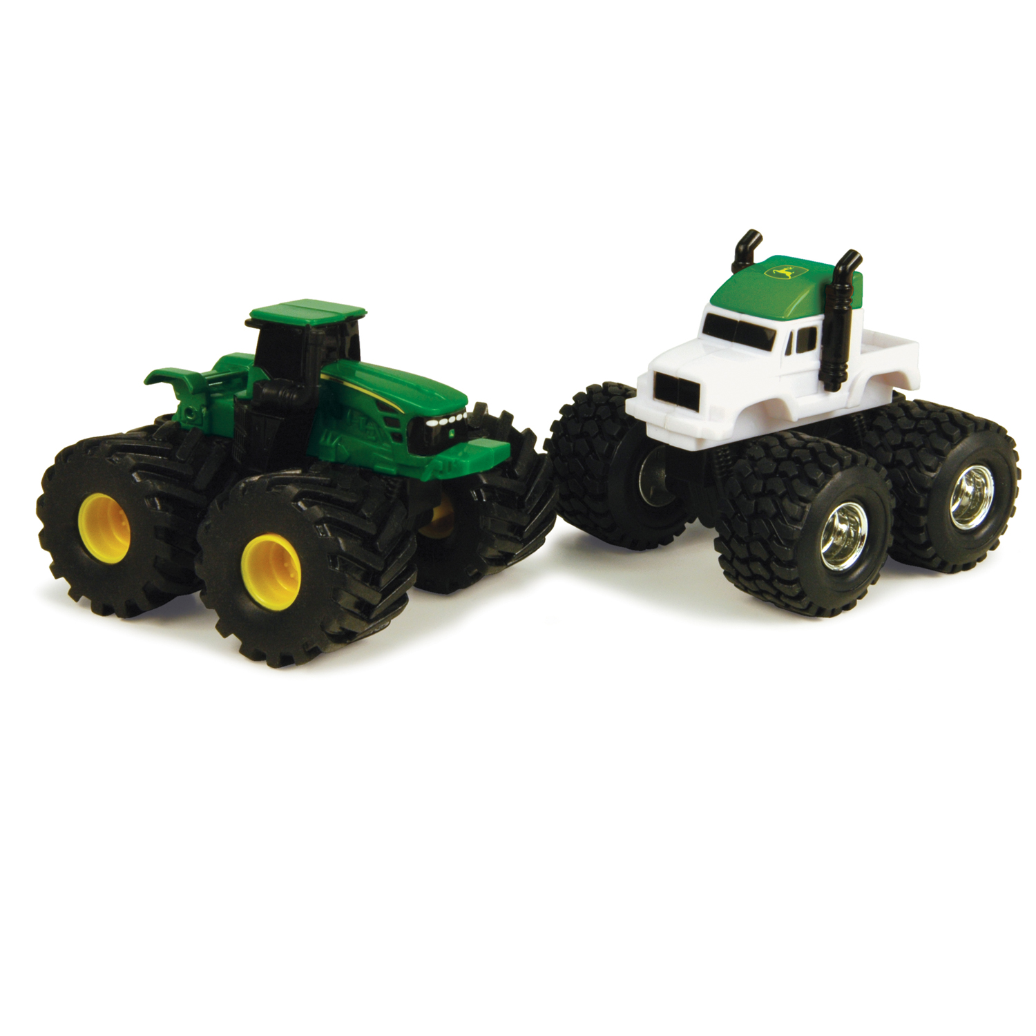 John Deere Toys - Monster Treads Green Tractor and Semi 2-Pack at ...
