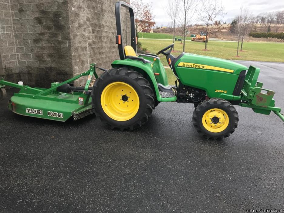 3038E John Deere Tractor & Frontier RC2060 Lift-Type Rotary Mower