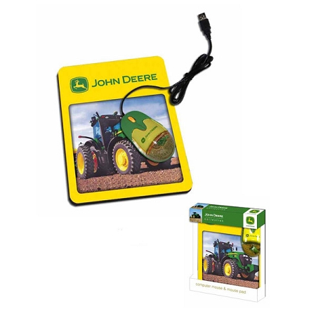 John Deere Liquid Optical Mouse With Pad Tractor Pictures