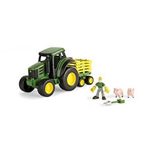 Amazon.com: Ertl John Deere Gear Force Tractor Playset: Toys & Games