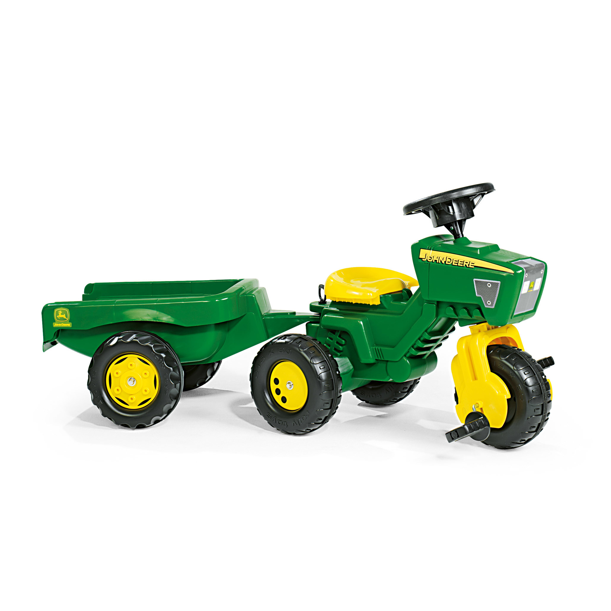 Rolly Toys John Deere 3 Wheel Pedal Tractor with Trailer & Reviews ...