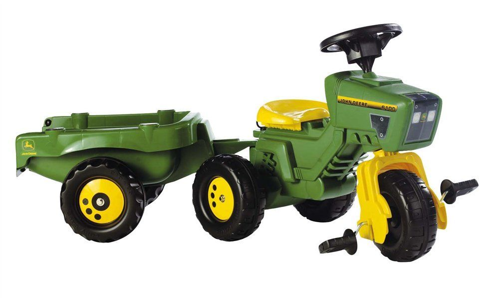 ... Models & Merchandise > Pedal > John Deere 3 wheel tractor and trailer