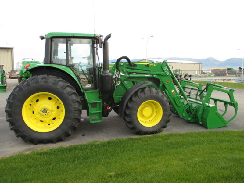 low houred john deere 6155m tractor with john deere 640r loader ...