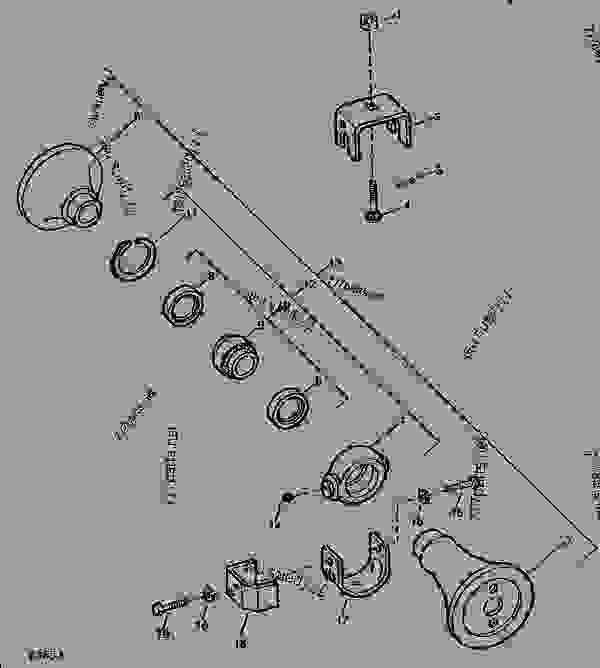 , DISK John Deere 425 - HARROW, DISK - 425 Series, Wheel-Type Offset ...