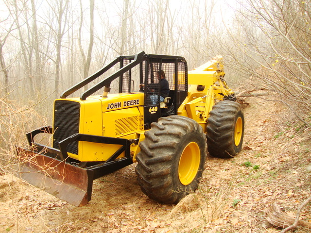 ... for sale  John Deere Skidders for sale 640 with grapple and cable