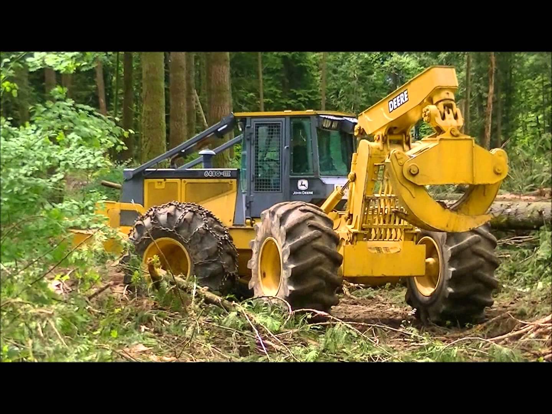 John Deere 648G Grapple Skidder-part 1 - YouTube