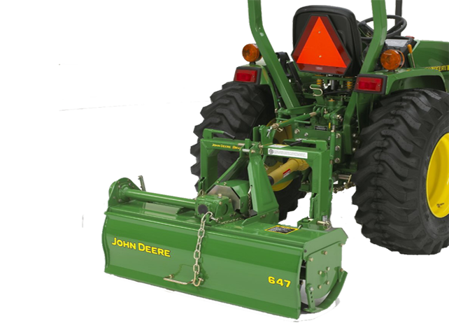 John Deere Tillers and 3-Point Hitch Attachments for Spring Upkeep