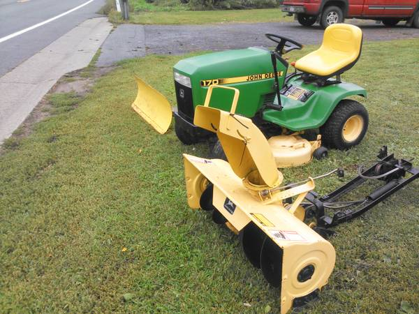 JOHN DEERE 170 with snow blower and plow - $1250 ...