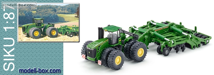 ... - 1856 Tractor JOHN DEERE 9630 with AMAZONE disc harrow 1:87