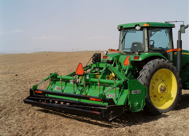 of a John Deere tractor using a RC13 Series Row-Crop Rotary Tiller ...