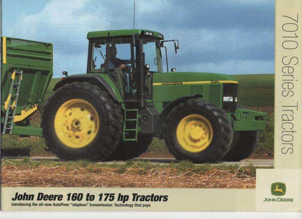 John Deere Tractor 7010 Series - 160 to 175 hp - 7610-7710 ...