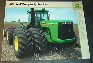 JOHN DEERE TRACTOR 9020/9020T SERIES 280 to 450 HP SALES ...