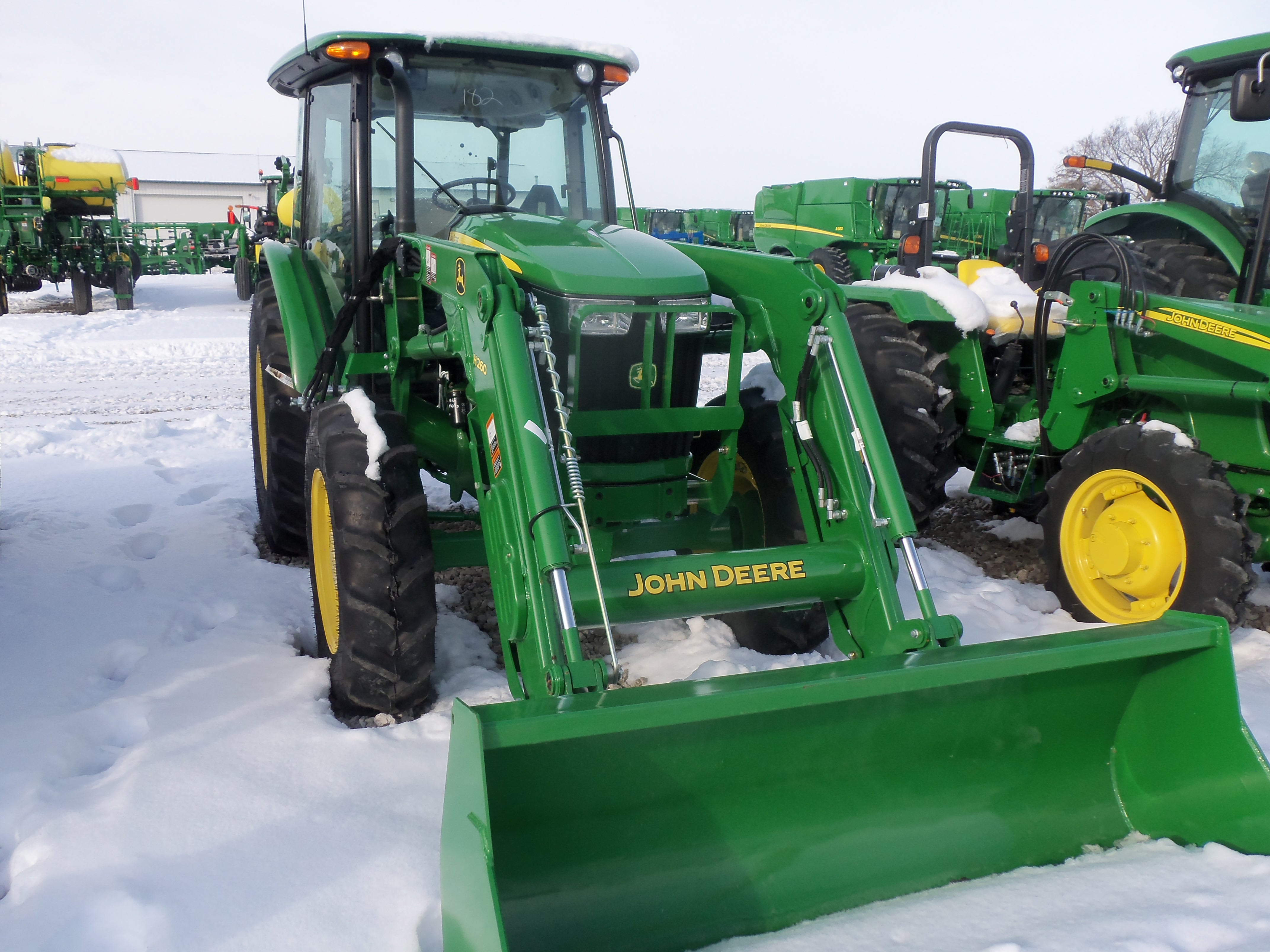 John Deere 5058E with H260 loader | John Deere equipment | Pinterest
