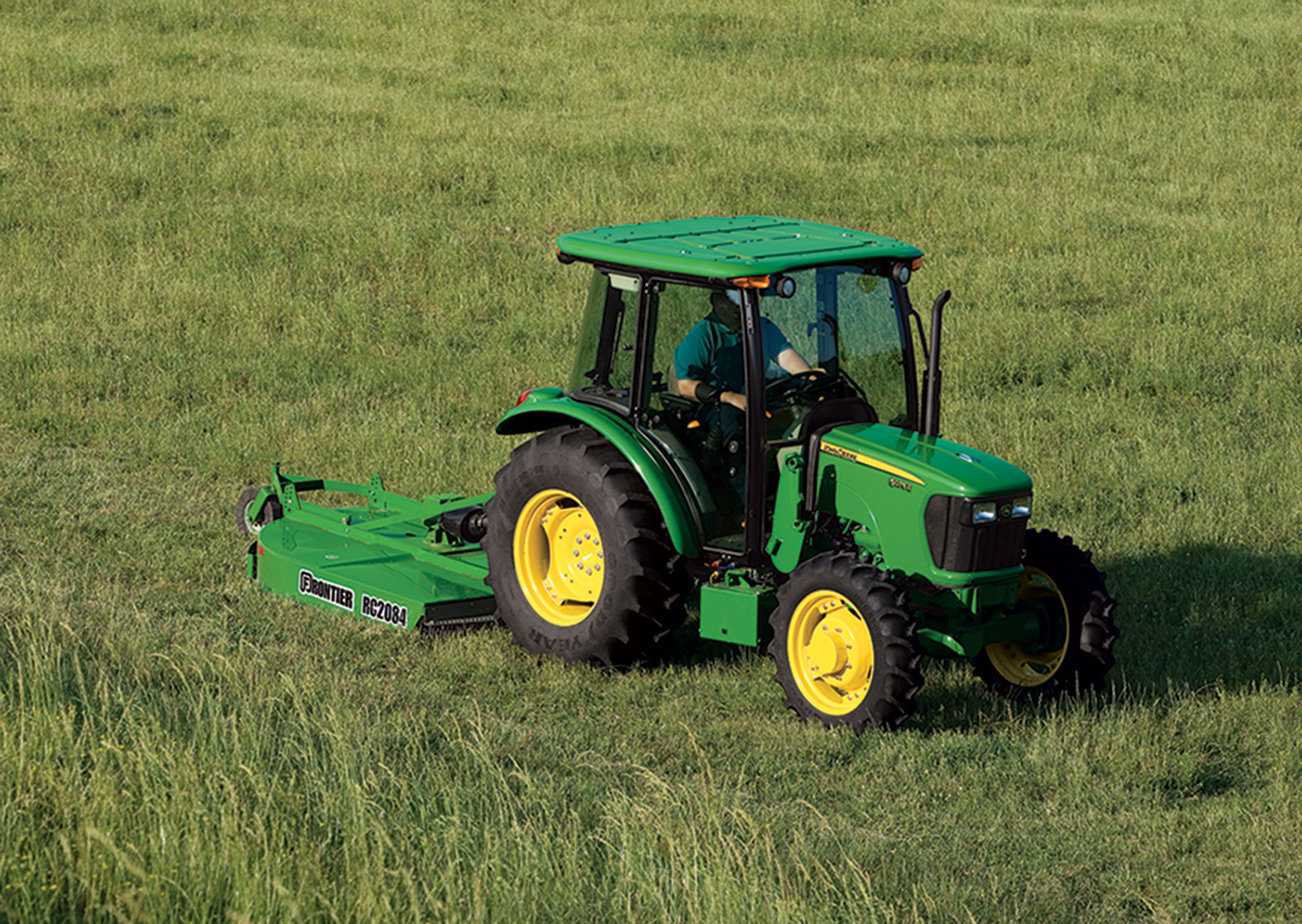 The 3-cylinder John Deere 5075E Utility Tractor now comes with more ...