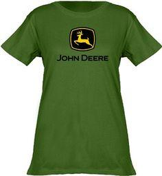 John Deere Women's Short Sleeve Green Shirt/T-shirt
