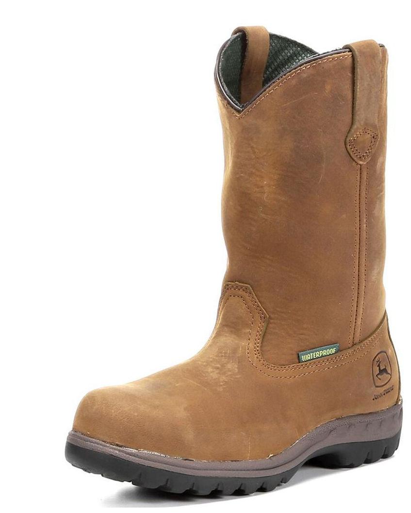 Women's 10 WCT Waterproof Pull-On Steel Toe Boots - Tan,