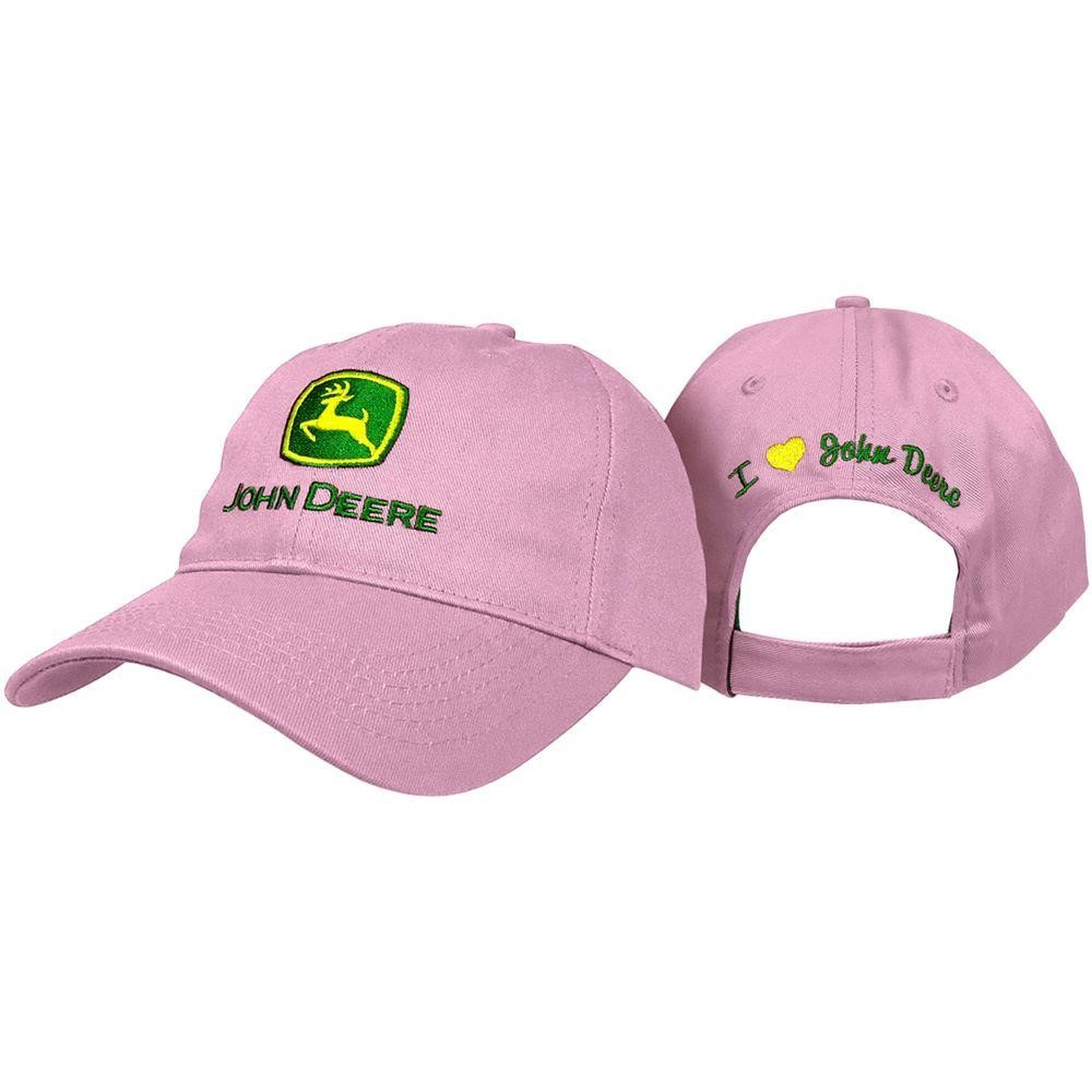 John Deere Headgear I Love 6-Panel Twill Cap / Hat in Pink ...