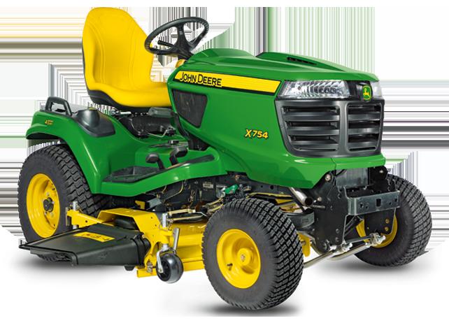 Wheel Steer Lawn Tractor   Riding Mower   X754   John Deere US