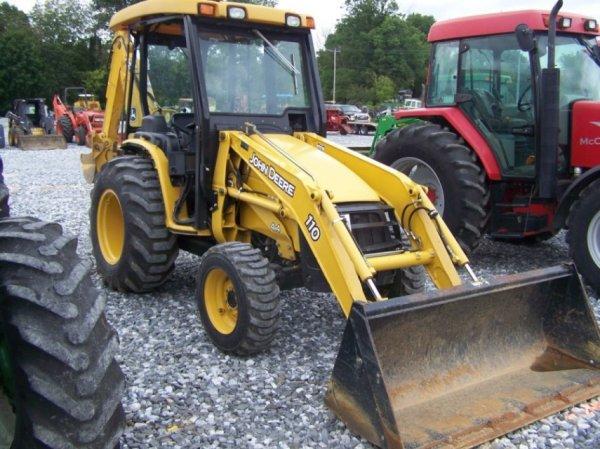 4141: John Deere 110 4x4 Tractor Loader Backhoe, Nice ...