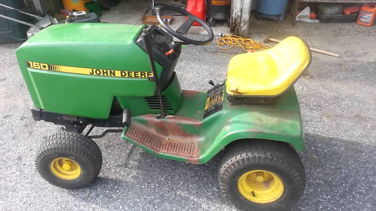 Our John Deere 160 tractor - YouTube