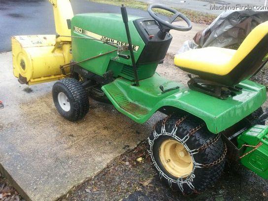 1998 John Deere 160 Lawn & Garden and Commercial Mowing ...