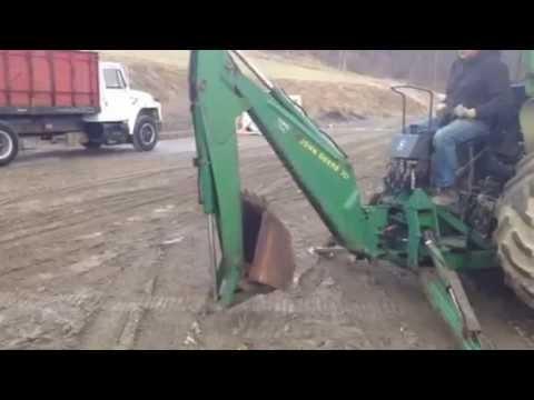 John Deere 10A Backhoe 3 point! - YouTube