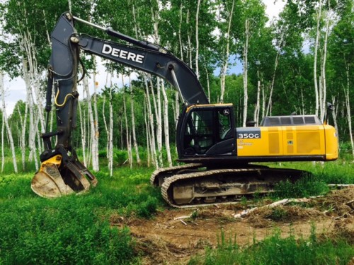 2013 John Deere 350 G Excavator with Thumb & Grapple ...