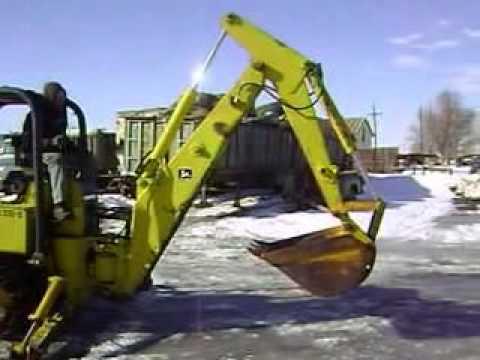 John Deere 350 B - Dozer / Backhoe - YouTube