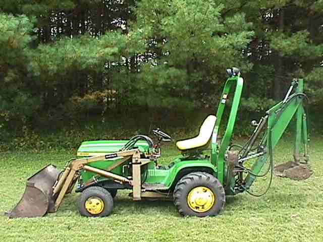 John Deere 400 Garden Tractor Backhoe Attachment | Car ...