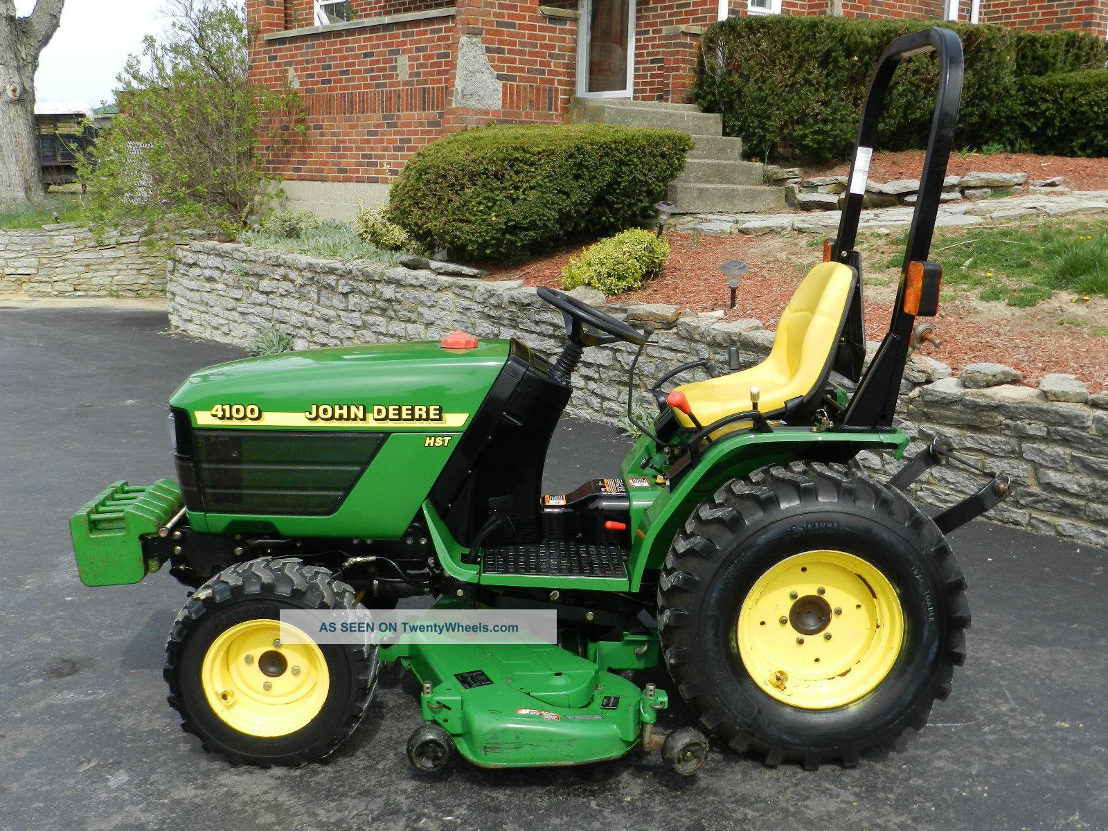 John Deere 4100 Compact Tractor & 54 In Belly Mower ...
