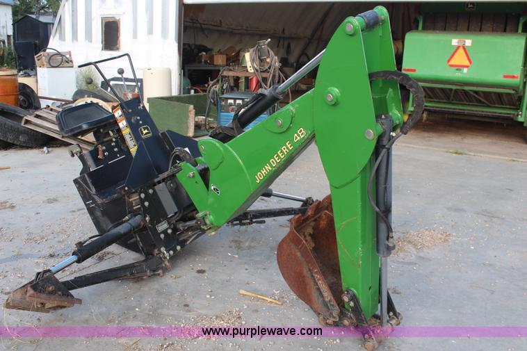John Deere 48 backhoe attachment | no-reserve auction on ...