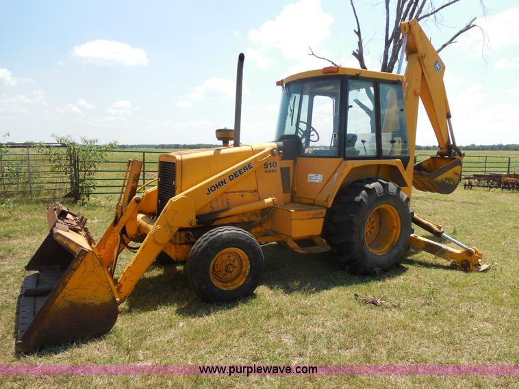 1984 John Deere 510 Turbo backhoe loader | no-reserve ...