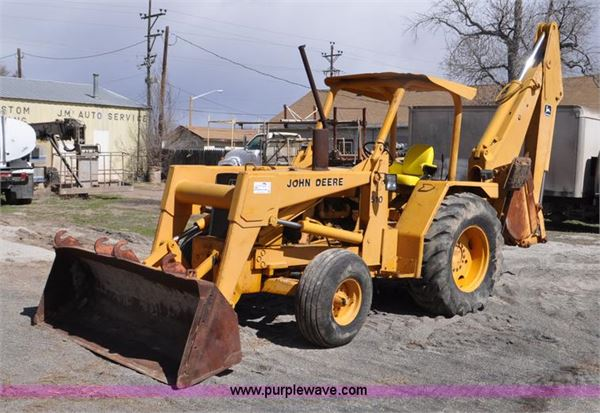 Purchase John Deere 510 backhoe loaders, Bid & Buy on ...
