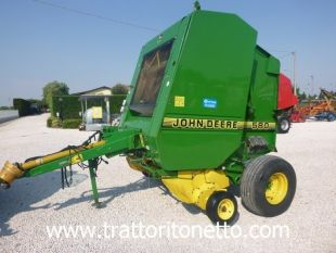 Sell agricultural machine used ROTOPRESSA JOHN DEERE 580
