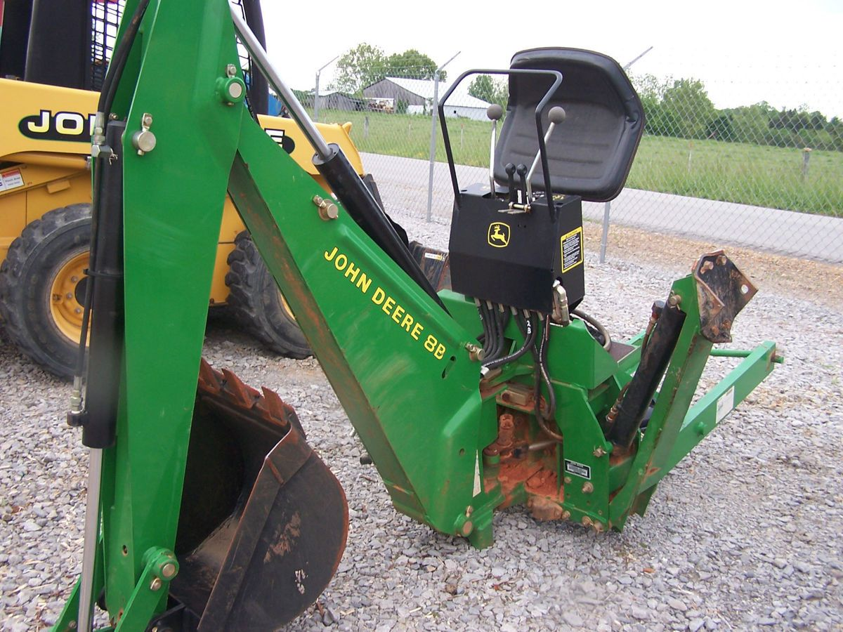 John Deere 8B Backhoe Attachment for Compact Tractor EXC ...