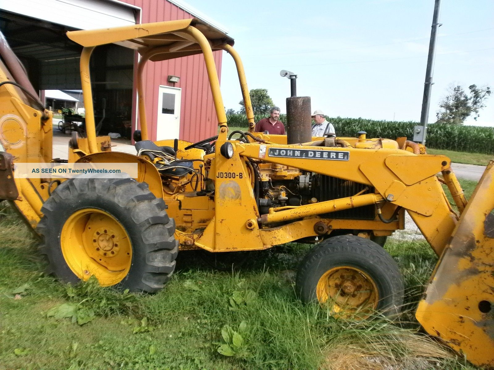 John Deere Jd - 300 - B Backhoe (farm - 3521)
