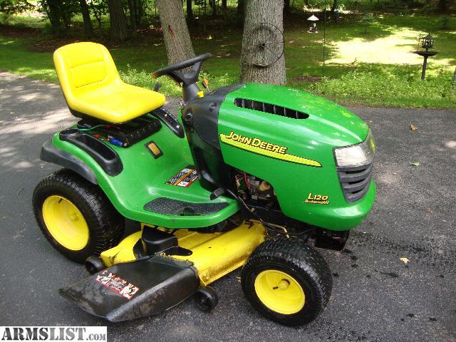 ARMSLIST - For Sale: john deere L120 lawn tractor