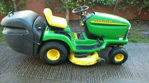John Deere Ltr180 Ride On Lawnmower Tractor Cutter Mower Topper Garden ...
