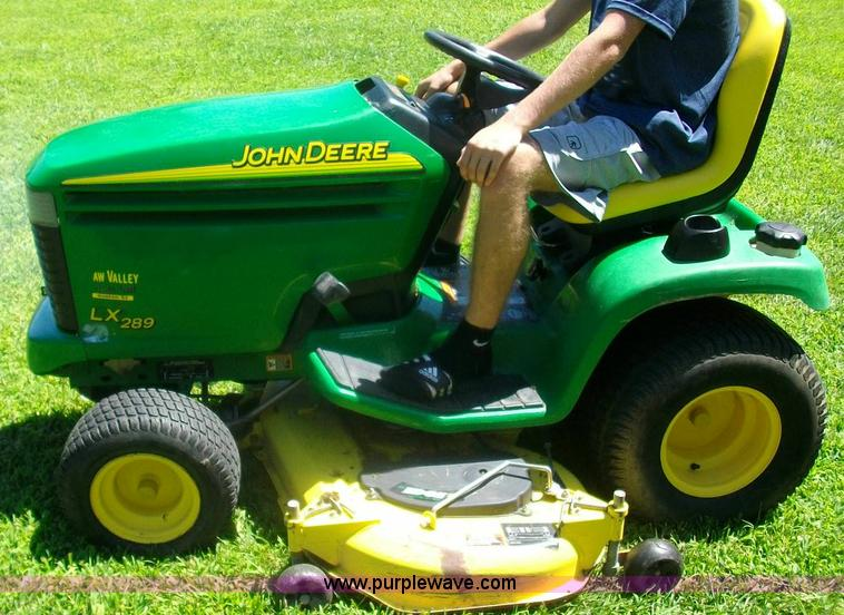 John Deere LX289 lawn mower, 408 hours on meter, 54 quot cut, John ...