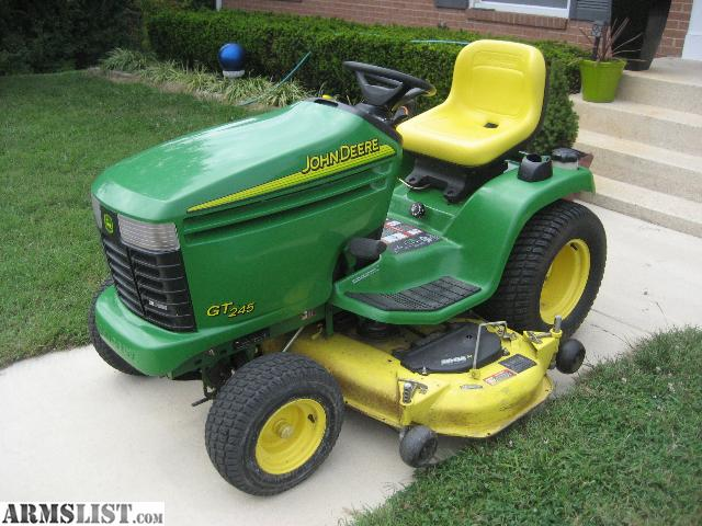 ARMSLIST - For Sale: John Deere GT245 Lawn Tractor Excellent Condition